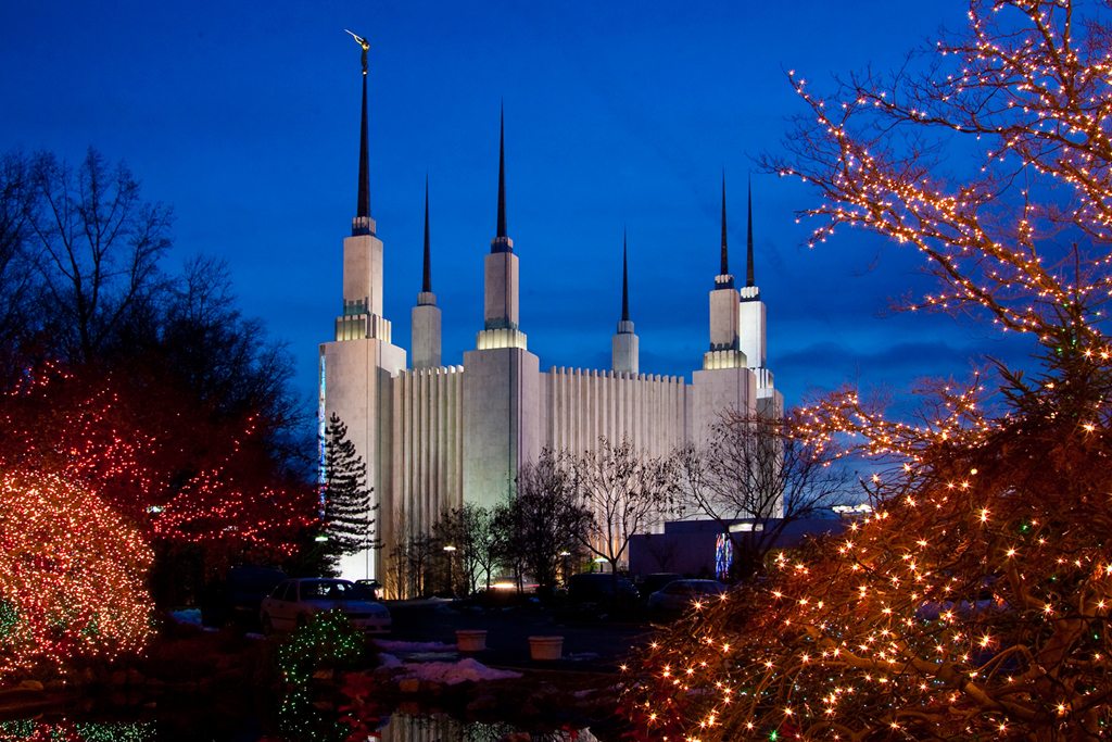 D.C. Temple Lights Photo